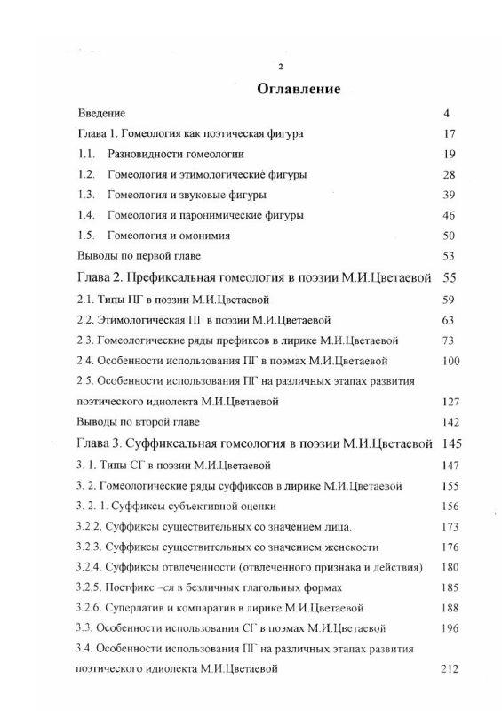Оглавление Аффиксальная гомеология в поэзии М. И. Цветаевой