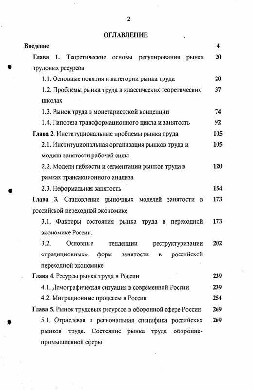 Оглавление Рынок труда в оборонном секторе России