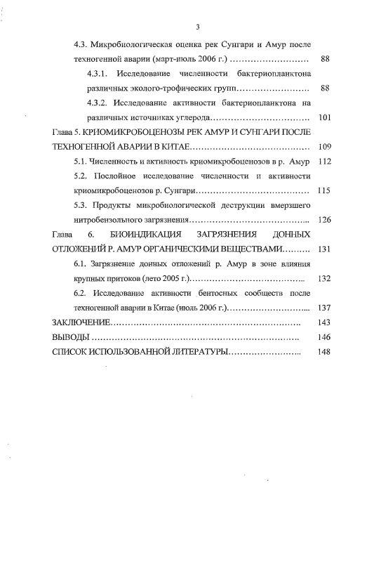 Содержание Микробиологическая индикация загрязнения реки Амур ароматическими углеводородами