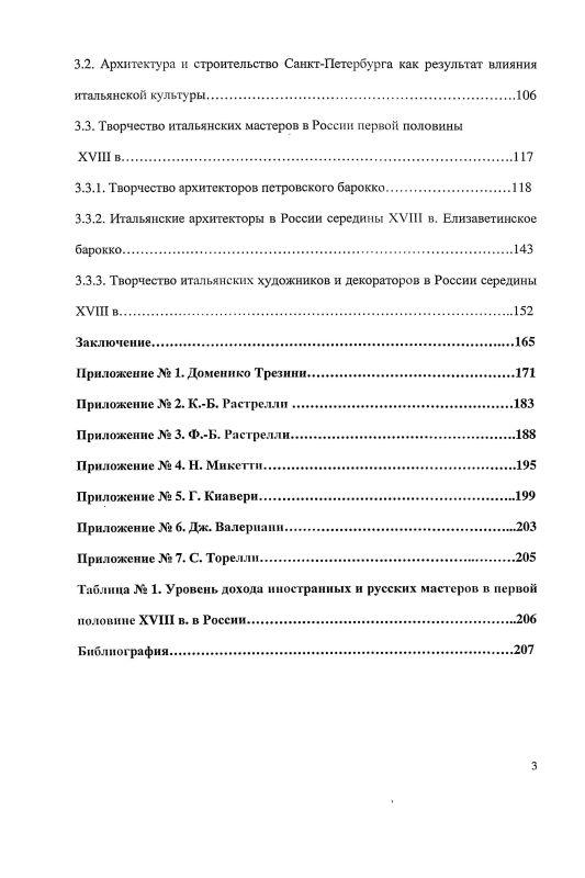 Содержание Повседневность итальянских мастеров в процессе формирования европейской культуры в России первой половины XVIII в.